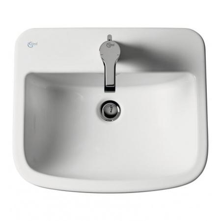 Ideal Standard Tempo Umywalka wpuszczana w blat 50x43x18,2 cm, z jednym otworem, z przelewem, biała T059201