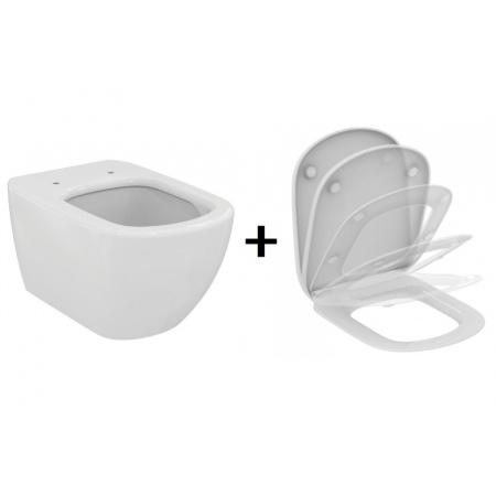 Ideal Standard Tesi Zestaw Toaleta WC AquaBlade z deską Slim T007901+T352901