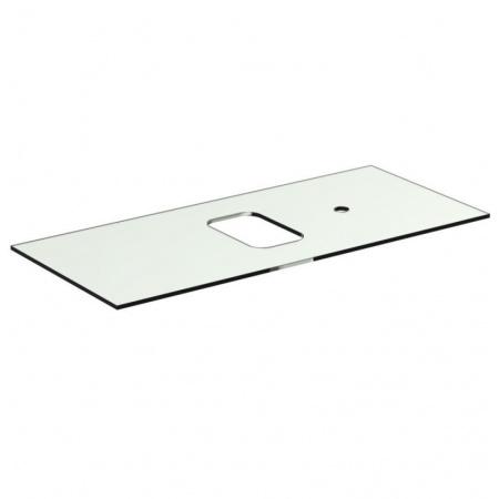 Ideal Standard Tonic II Blat szklany 100,6x44x10 cm, z bocznymi otworami na baterię, biały R4336SA