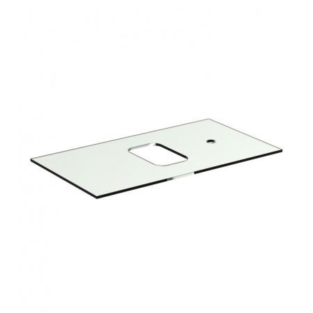 Ideal Standard Tonic II Blat szklany 80 cm, z bocznym otworem na baterię, biały R4335SA