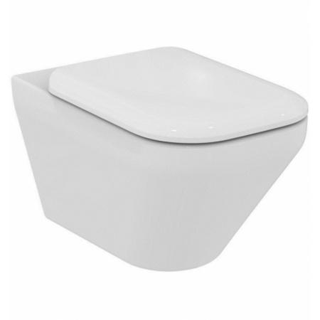 Ideal Standard Tonic II Toaleta WC podwieszana 56,5x36 cm AquaBlade z deską sedesową wolnoopadającą, biała K316701