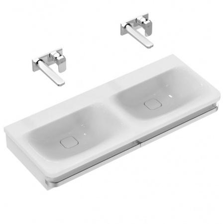 Ideal Standard Tonic II Umywalka podwieszana podwójna 121,5x49x17 cm, bez otworu na baterię, biała K087401
