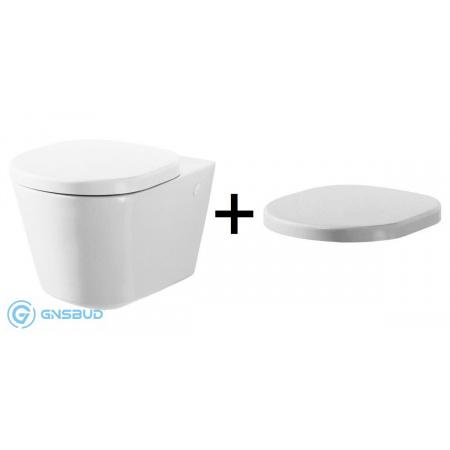Ideal Standard Tonic Zestaw Toaleta WC podwieszana 54x36 cm z deską sedesową wolnoopadającą, biała K313061+K706101