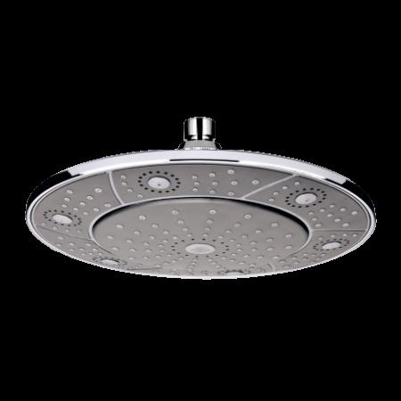 Invena Socho Deszczownica okrągła o średnicy 24 cm, czarny SC-D1-002