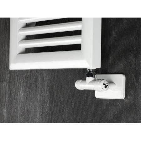 Irsap Zawór termostatyczny kątowy 35 mm jednorurowy, biały KITMONESC01