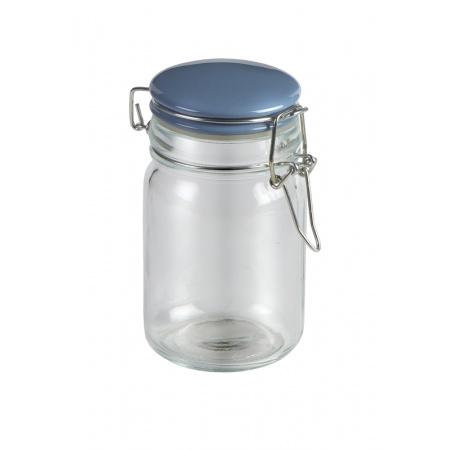 Jamie Oliver Pojemnik szklany 10x10x15 cm, Przezroczysty/niebieski JC8300