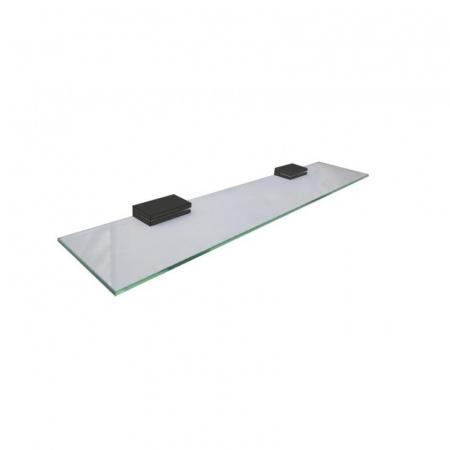 Jedavid Plan Półka szklana prostokątna 60 cm, czarna 2102-01-40