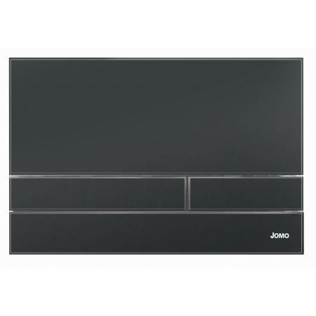 Jomo Exclusive 2.1 Przycisk WC szkło czarny mat/biały 167-37001120-00