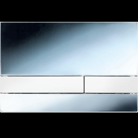 Jomo Exclusive 2.0 Przycisk spłukujący do WC, chromowany polerowany/biały 167-34003601-00