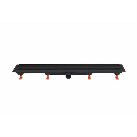 JomoTech Exclusive 40 Odpływ liniowy 65 cm z maskownicą 2-stronną Flis czarny mat 175-30650400-38