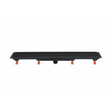 JomoTech Exclusive 40 Odpływ liniowy 75 cm z maskownicą 2-stronną Flis czarny mat 175-30750400-38
