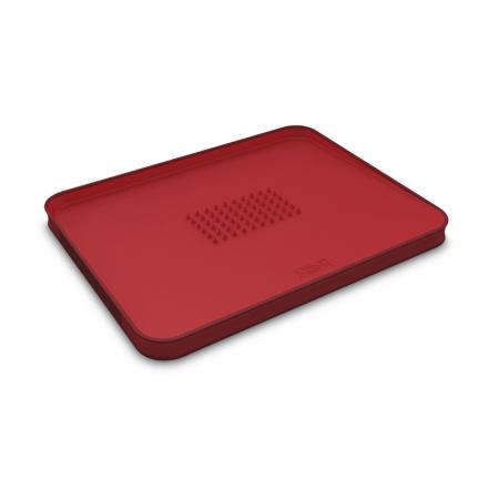 Joseph Joseph Cut&Carve Deska do krojenia duża, czerwona 60004