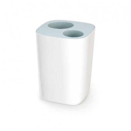 Joseph Joseph Split Kosz łazienkowy do segregacji odpadów, biały/błękitny 70505