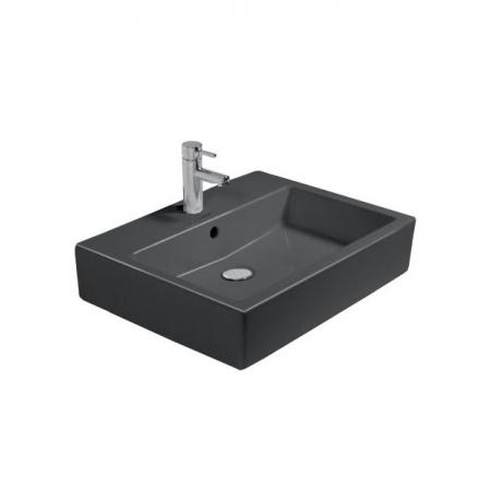 Duravit Vero Umywalka wisząca szlifowana 60x47 cm z jednym otworem na baterie, czarna 0454600827
