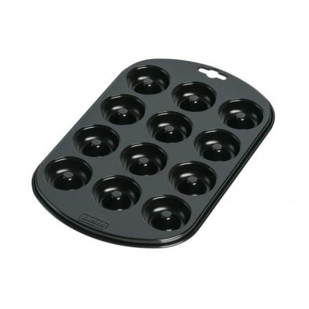 Kaiser Emaliowana foremka do mini pączków 28x27 cm, czarna 2300646169
