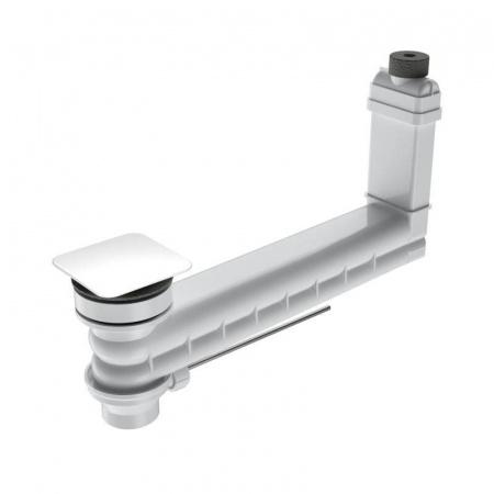 Kaldewei Clou 3901 Zestaw odpływowo-przelewowy z kwadratową pokrywą, biały 905400000001