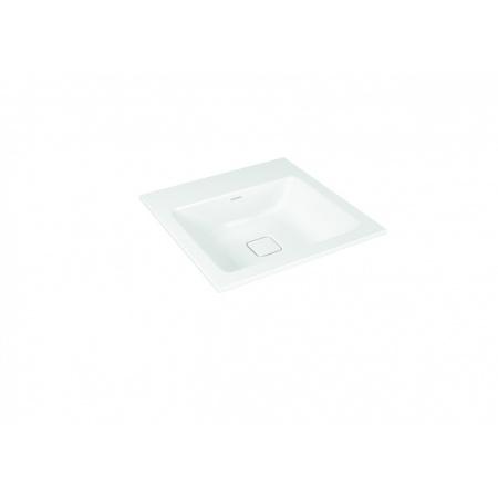 Kaldewei Cono 3075 Umywalka wpuszczana w blat 50x50 cm bez przelewu bez otworu na baterię biała 908206003001