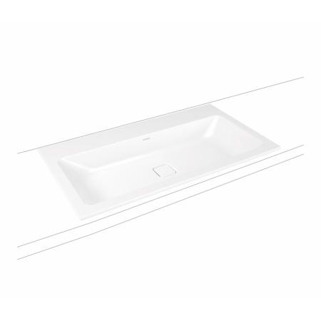 Kaldewei Cono 3080 Umywalka wpuszczana w blat 60x50 cm z otworem na baterię bez przelewu biała 901606013001