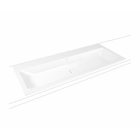 Kaldewei Cono 3082 Umywalka podwójna wpuszczana w blat 120x50 cm bez przelewu biała 901806043001