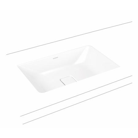 Kaldewei Cono 3087 Umywalka podblatowa 56,9x38,2 cm bez przelewu biała 902306003001