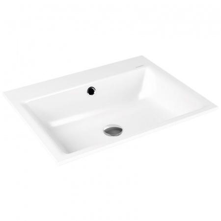 Kaldewei Puro 3151 Umywalka wpuszczana w blat 60x46 cm z przelewem biała 900106013001