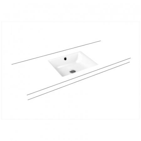 Kaldewei Puro 3159 Umywalka podblatowa 46x38,5 cm z przelewem biała 900906003001