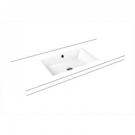 Kaldewei Puro 3160 Umywalka podblatowa 60x38,5 cm z przelewem, z powierzchnią uszlachetnioną, biała 901006003001