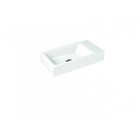 Kaldewei Puro 3166 Umywalka nablatowa 55x30 cm bez przelewu 1 otwór pod baterię biała 906906013001