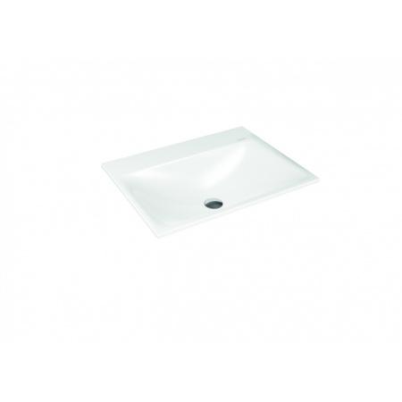 Kaldewei Silenio 3037 Umywalka wpuszczana w blat 60x46 cm bez przelewu 1 otwór pod baterię biała 907706303001