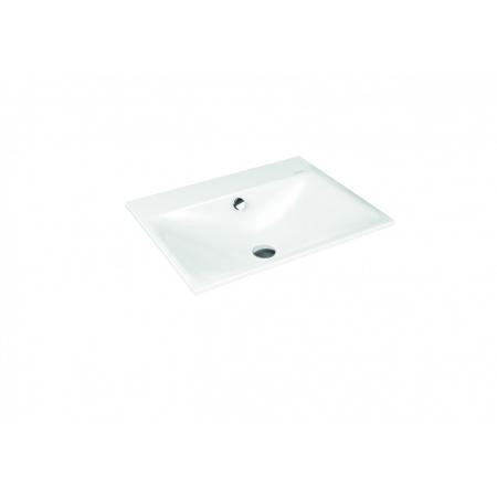 Kaldewei Silenio 3037 Umywalka wpuszczana w blat 60x46 cm z przelewem 3 otwory pod baterię biała 907706033001
