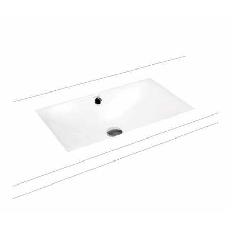 Kaldewei Silenio 3047 Umywalka podblatowa 63,4x39,1 cm z przelewem biała 906006003001