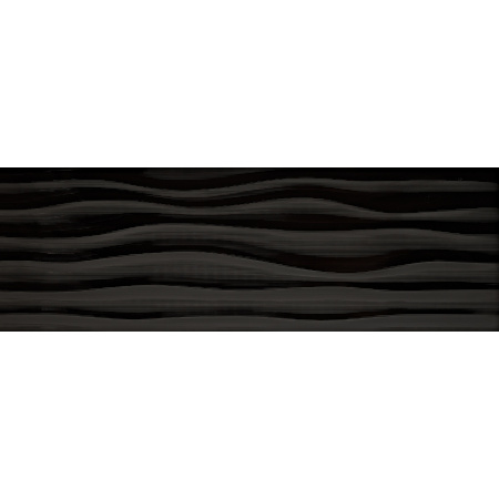 Keraben Millenium Flow Negro Brillo Płytka ścienna 30x90 cm, czarna KEHPG00K
