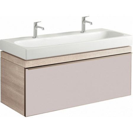 Keramag Citterio Szafka podumywalkowa wisząca 118,4x55,4x50,4 cm, jasny dąb/szkło taupe 835120000