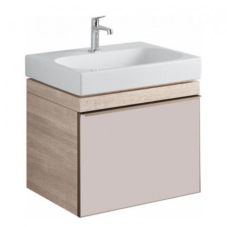 Keramag Citterio Szafka podumywalkowa 58,4x50,4x55,4 cm, dąb jasny/szkło taupe 835160000