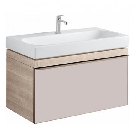 Keramag Citterio Szafka podumywalkowa wisząca 88,4x55,4x50,4 cm, dąb jasny/szkło taupe 835190000