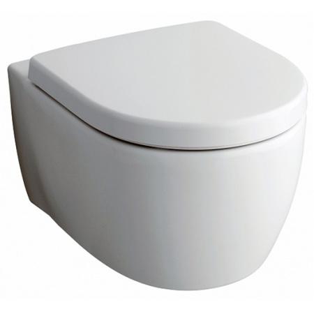 Keramag iCon Toaleta WC podwieszana 53x35,5 cm Rimfree bez wewnętrznego kołnierza z powłoką KeraTect, biała 204060600
