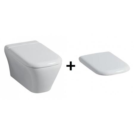 Keramag MyDay Miska WC podwieszana lejowa 54x36 cm z deską wolnoopadającą, biała 201400+575410