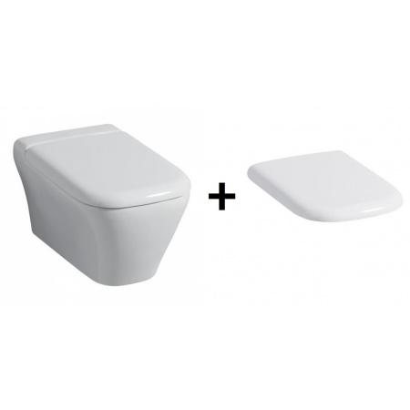 Keramag MyDay Miska WC podwieszana lejowa 54x36 cm z deską zwykłą, biała 201400+575400