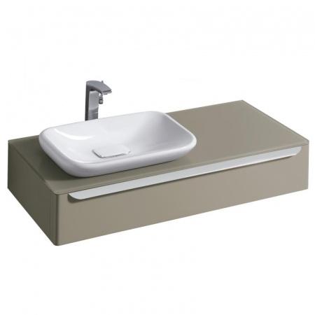 Keramag MyDay Szafka podumywalkowa 115x52x20 cm ze szklanym blatem lewa, greige mat 824262000