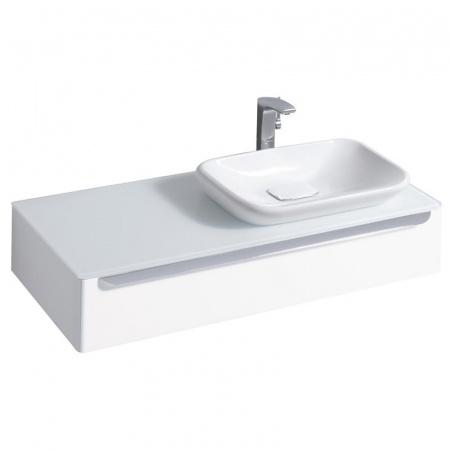Keramag MyDay Szafka podumywalkowa 115x52x20 cm ze szklanym blatem prawa, biały połysk 824160000
