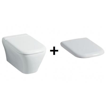 Keramag MyDay Zestaw Toaleta WC podwieszana 54x36 cm Rimfree z deską sedesową wolnoopadającą, biały 201460+575410