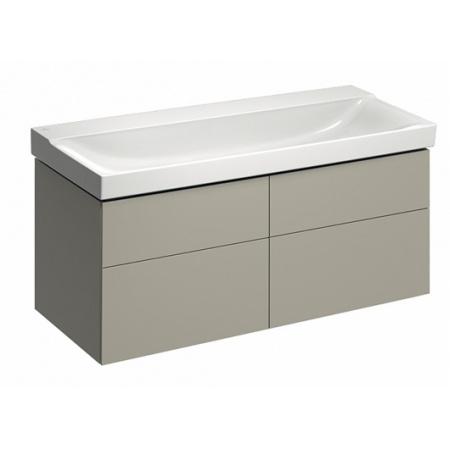 Keramag Xeno2 Szafka podumywalkowa 117,4x46,2x53 cm 4 szuflady, ciepły szary mat 807221000