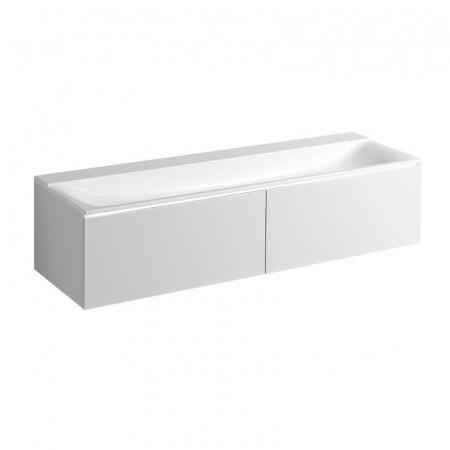Keramag Xeno2 Szafka podumywalkowa 139,5x47,5x35 cm 2 szuflady, biały połysk 807740000