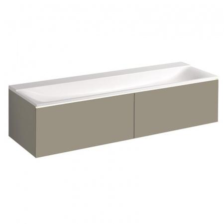 Keramag Xeno2 Szafka podumywalkowa 139,5x47,5x35 cm 2 szuflady, ciepły szary mat 807741000