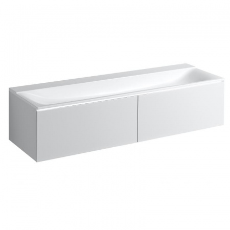 Keramag Xeno2 Szafka podumywalkowa 159,5x47,5x35 cm 2 szuflady, biały połysk 807760000