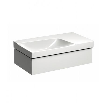 Keramag Xeno2 Szafka podumywalkowa 88x46,2x22 cm 1 szuflada lewa, biały połysk 807390000