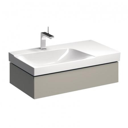 Keramag Xeno2 Szafka podumywalkowa 88x46,2x22 cm 1 szuflada lewa, ciepły szary mat 807391000