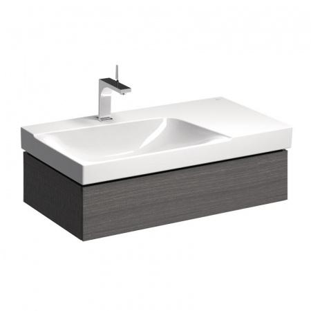 Keramag Xeno2 Szafka podumywalkowa 88x46,2x22 cm 1 szuflada lewa, szary mat płótno 807392000