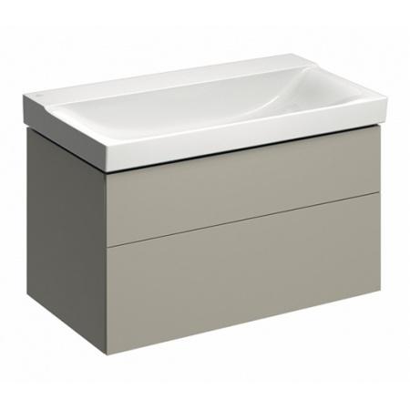 Keramag Xeno2 Szafka podumywalkowa 88x46,2x53 cm 2 szuflady, ciepły szary mat 807291000