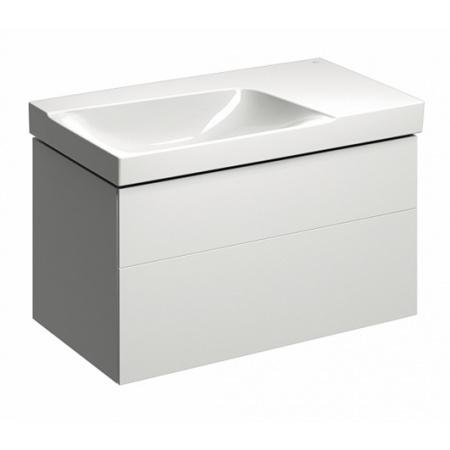 Keramag Xeno2 Szafka podumywalkowa 88x46,2x53 cm 2 szuflady lewa, biały połysk 807590000